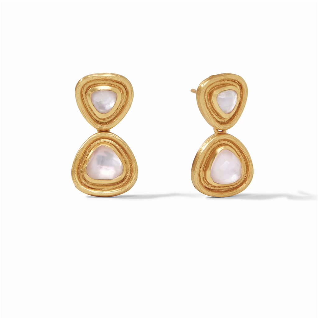 Julie Vos Julie Vos Barcelona Midi Earrings- Iridescent Rose