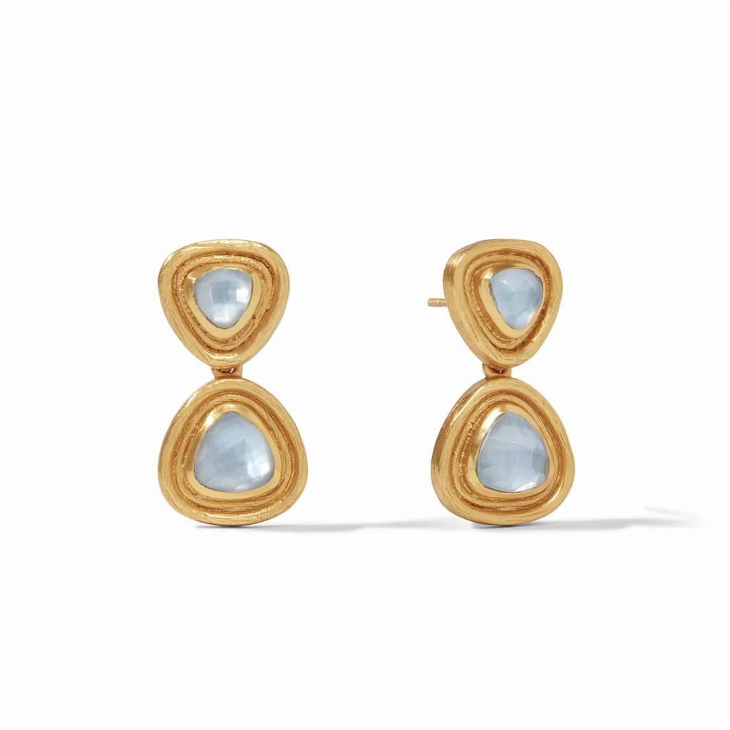 Julie Vos Julie Vos Barcelona Midi Earrings- Iridescent Chalcedony Blue