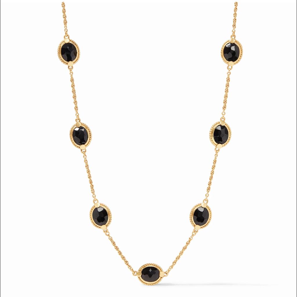 Julie Vos Julie Vos Calypso Delicate Necklace - Black