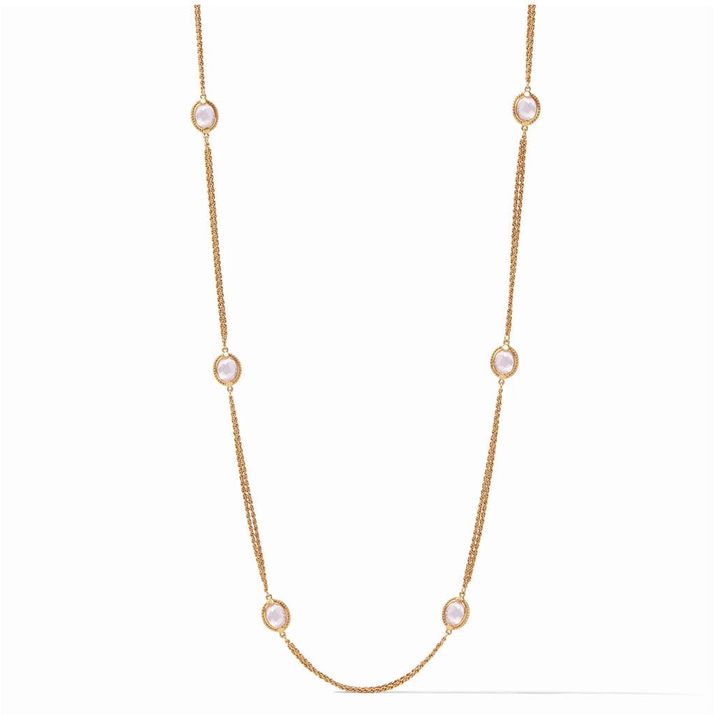 Julie Vos Julie Vos Calypso Station Necklace - Rose