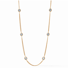Julie Vos Julie Vos Calypso Station Necklace - Blue
