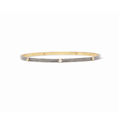 Julie Vos Julie Vos Crescent Bangle Mixed Metal Zircon - Medium