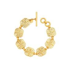 Julie Vos disc Julie Vos Geneva Link Bracelet Gold
