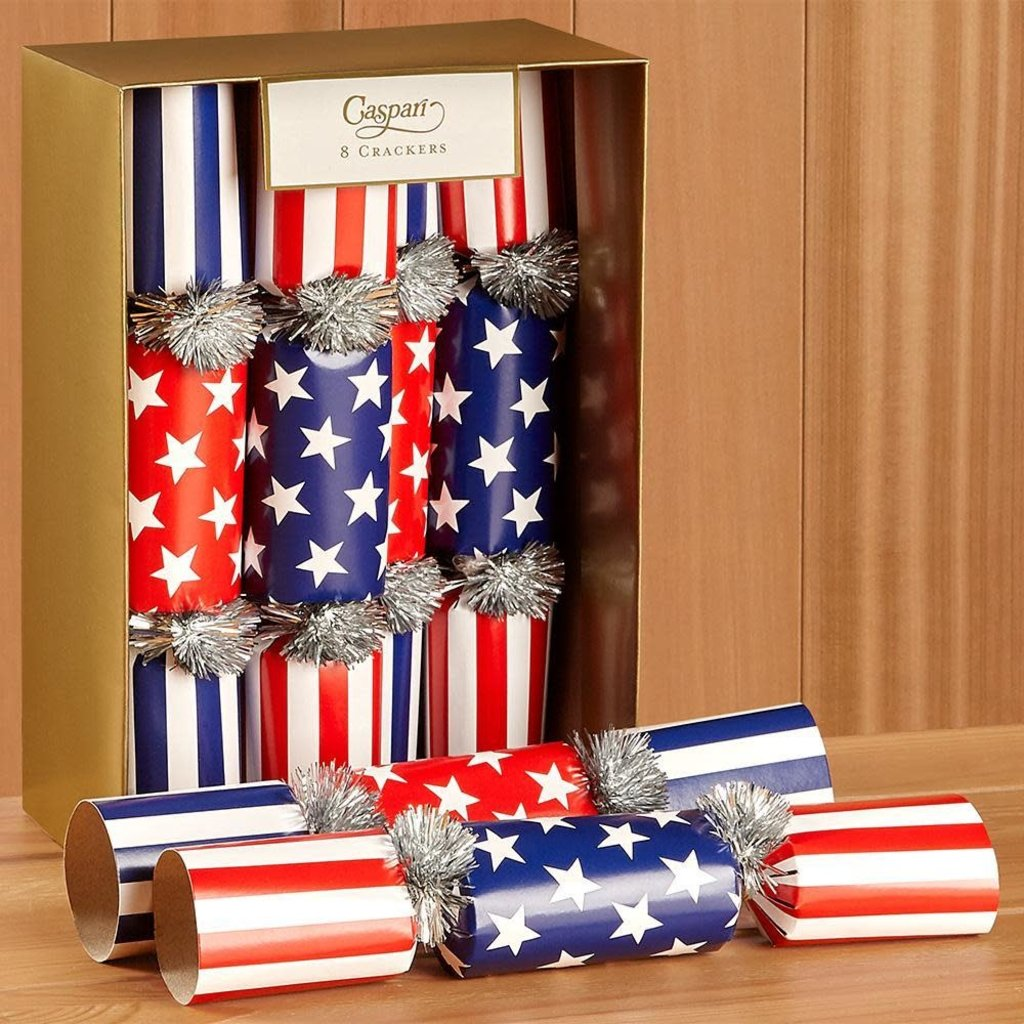 Caspari Caspari Red White and Blue - Forth of July Crackers-10 INCH LONG/8IN