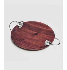Mary Jurek Mary Jurek Ginkgo Wood Platter w Leaf Handles