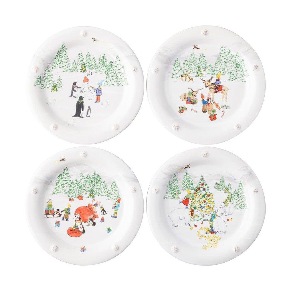Juliska Juliska B&T North Pole Cocktail Plates - Set of 4
