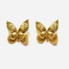 The Pink Reef Butterfly Stud