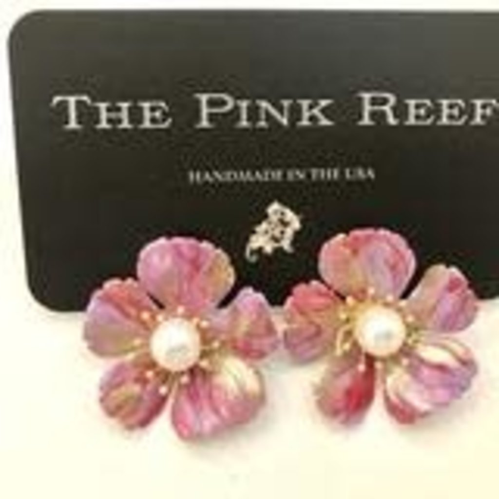 The Pink Reef Marble effect rose, lavender, gold hand painted floral