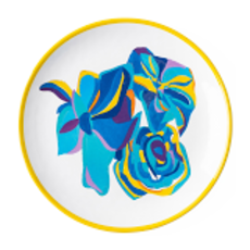 Juliska Juliska Melamine Dessert Plate - Blue Rose
