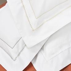 Stamattina Stamattina Giulia King Flat Sheet - White