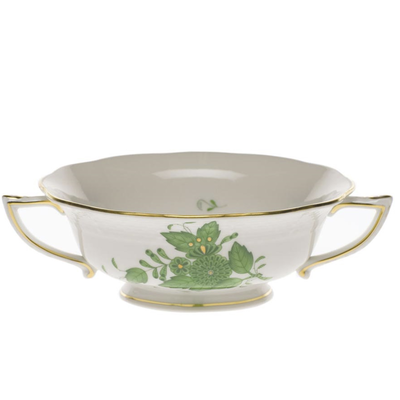 Herend Herend Chinese Bouquet Soup Cup - Green