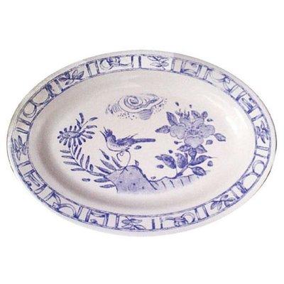Gien France Gien Oiseau Bleu Oval Platter