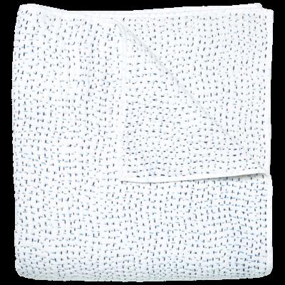 John Robshaw Textiles John Robshaw Hand Stitched Light Indigo Quilt Twin