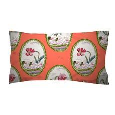 Dana Gibson Dana Gibson Botany in Coral Jumbo Lumbar Pillow
