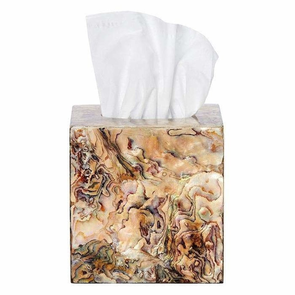 Pigeon & Poodle Pigeon & Poodle Adana Marbleized Shell Tissue Box