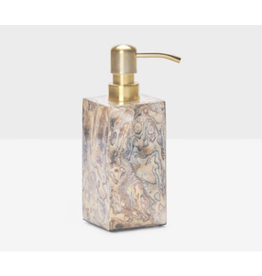 Pigeon & Poodle Pigeon & Poodle Adana Marbleized Young Pen Soap Pump Square Straight Shell