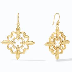 Julie Vos Julie Vos Fleur-de-Lis Lace Earring Gold