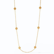 Julie Vos Julie Vos Fleur-de-Lis Station Necklace Gold