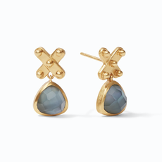 Julie Vos Julie Vos SoHo Midi Earring Gold Iridescent Slate Blue
