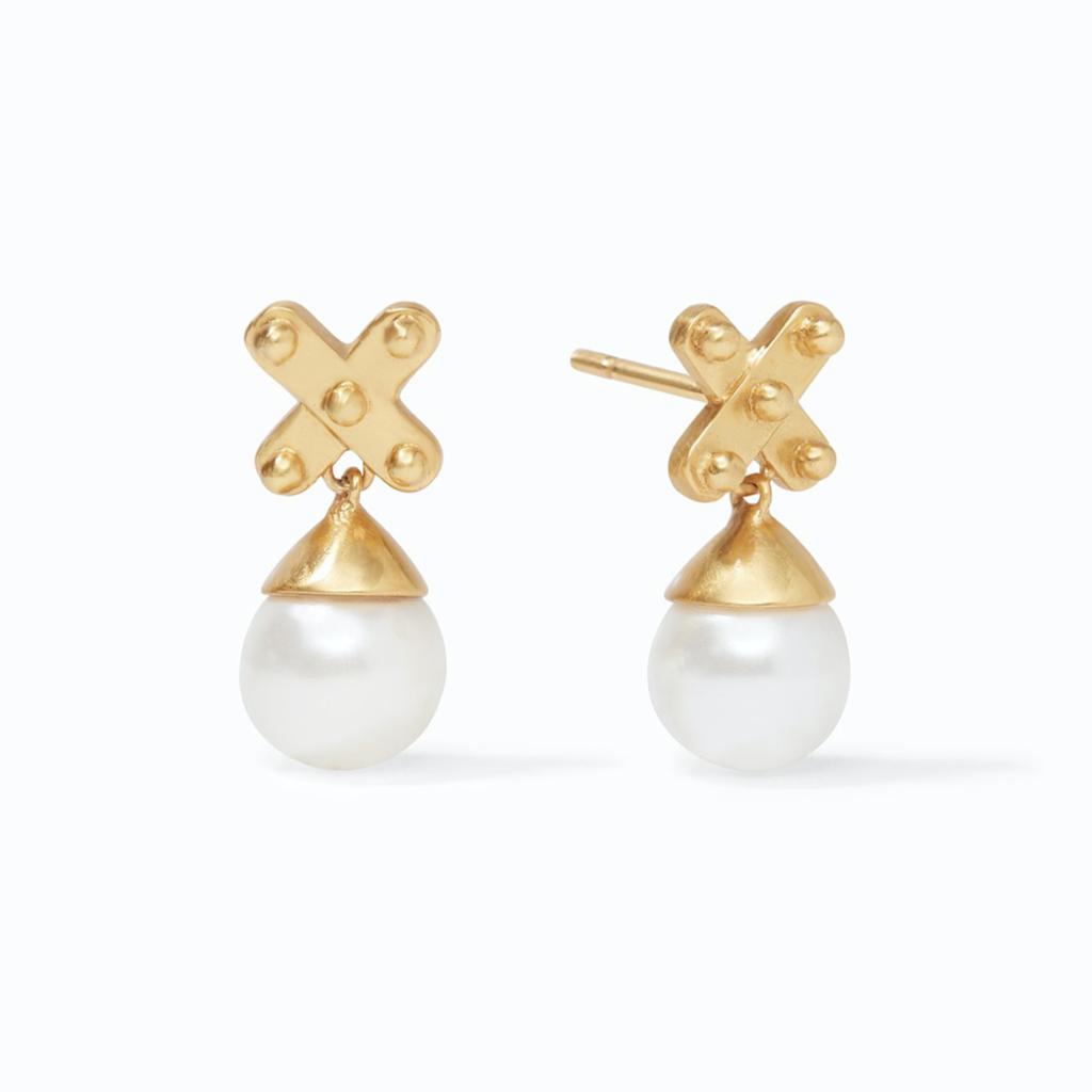 Julie Vos Julie Vos SoHo Pearl Earring Gold Pearl