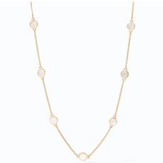 Julie Vos Julie Vos Valencia Delicate Station Necklace Gold Mother of Pearl