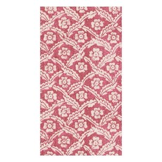 Caspari Caspari Guest Towel - Domino Papers Floral Cross Brace Red