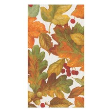Caspari Caspari Guest Towel - Autumn Leaves II