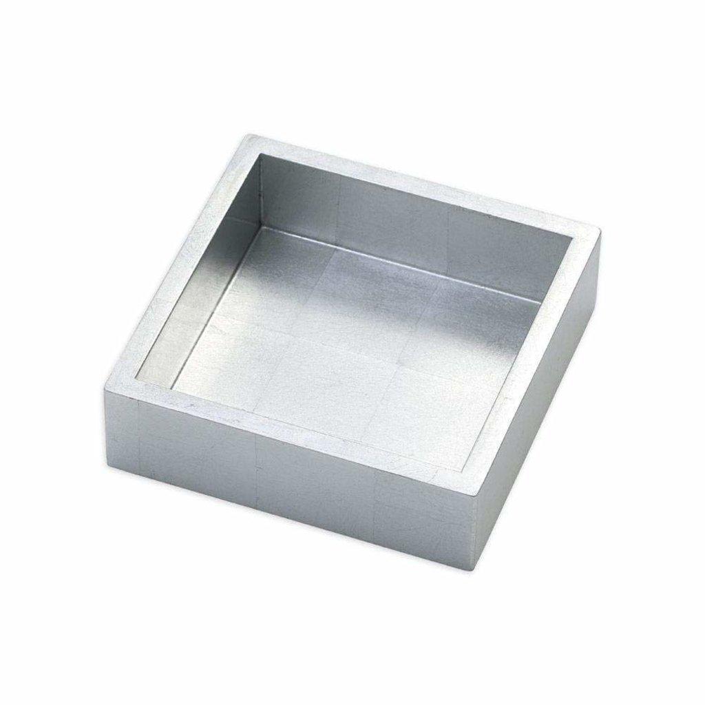 Caspari Caspari Cocktail Napkin Holder - Lacquer Silver
