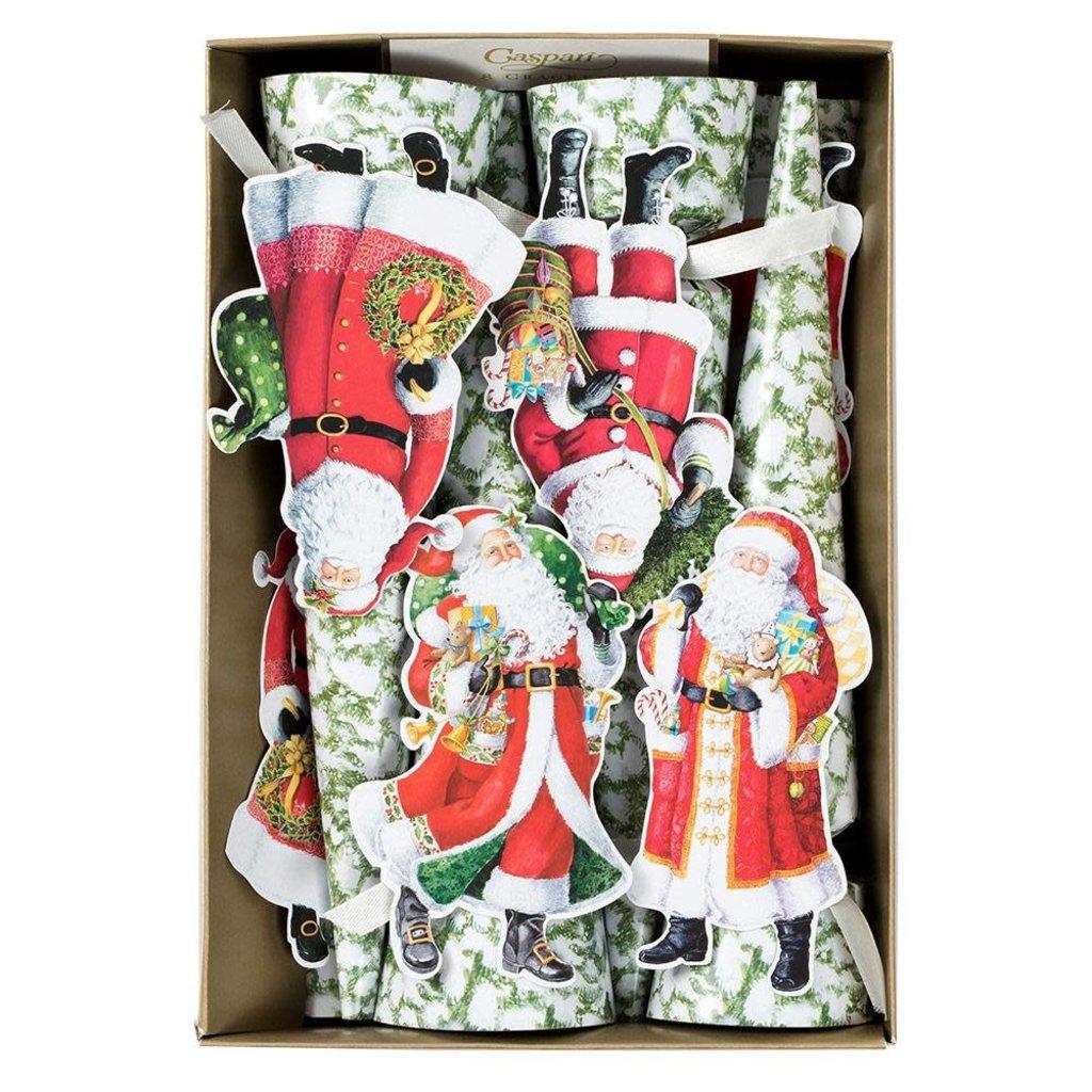 Caspari Caspari Crackers - Woodland Santa, 10 Inch/8-In