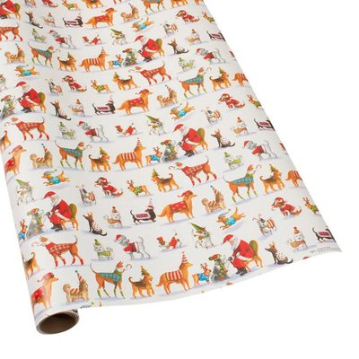 Caspari Caspari Wrapping Paper - Waiting For Santa - 8 Ft Roll