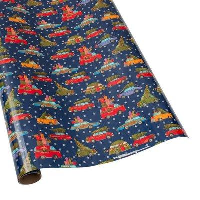 Caspari Caspari Wrapping Paper - Christmas Rush - 8 Ft Roll
