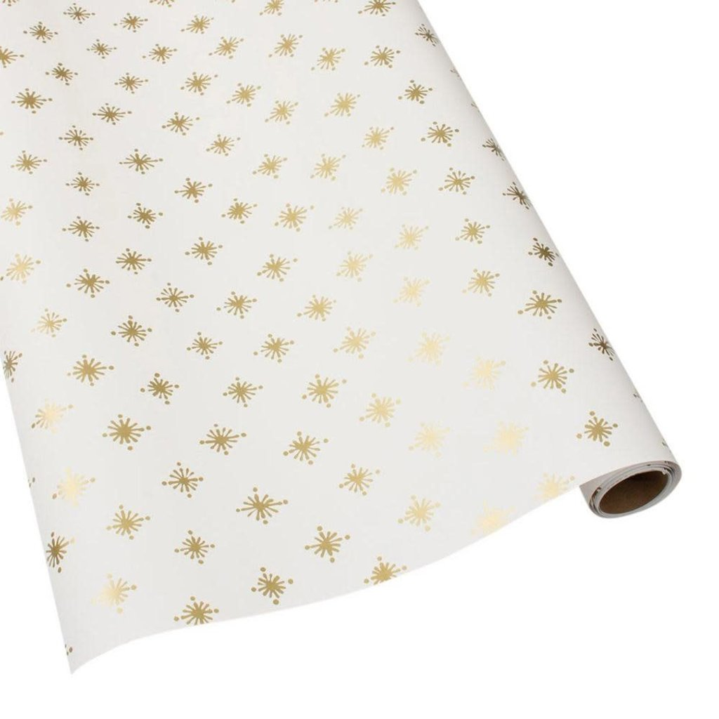 Caspari Caspari Wrapping Paper - Starry Ivory - 8 Ft Roll