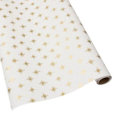 Caspari Caspari Wrapping Paper - Starry Ivory - 8 Ft Roll