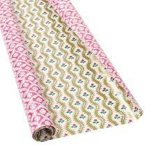 Caspari Caspari Wrapping Paper - Domino Papers Floral Cross Brace - 8 Ft Roll