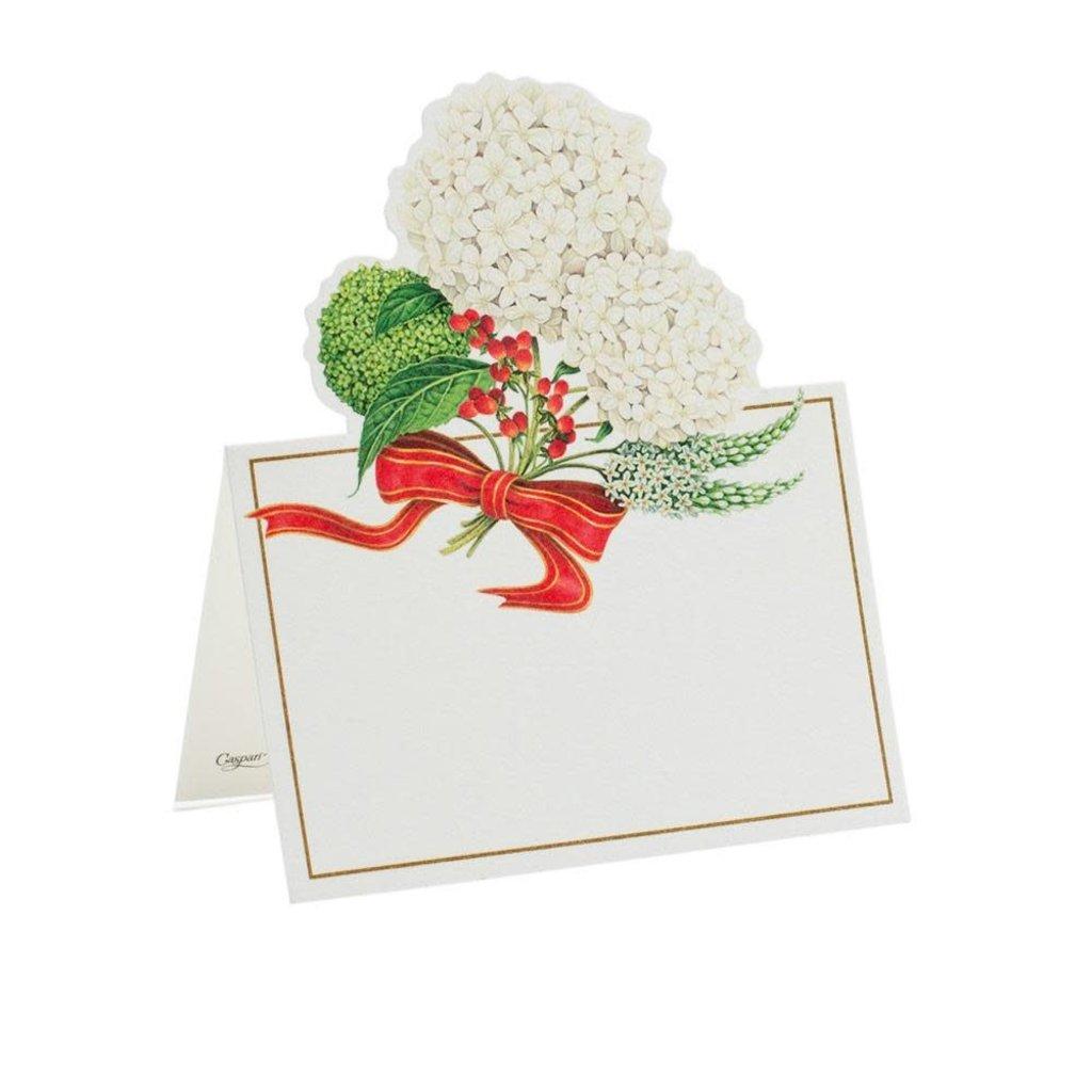 Caspari Caspari Place Cards - Snowball Hydrangeas Die Cut