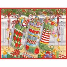 Caspari Caspari Advent Calendar - Stockings On The Mantle