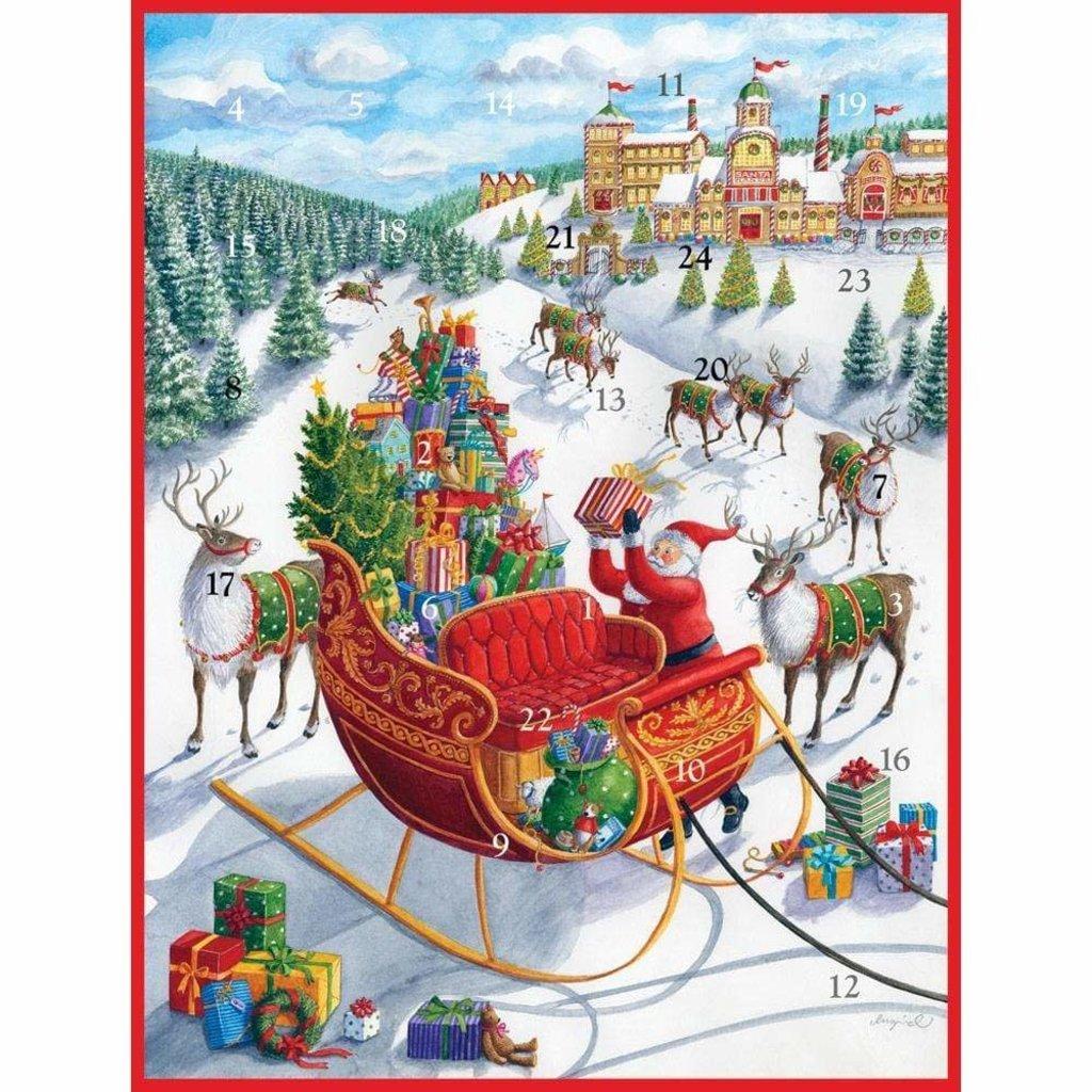 Caspari Caspari Advent Calendar - Santa's Sleigh