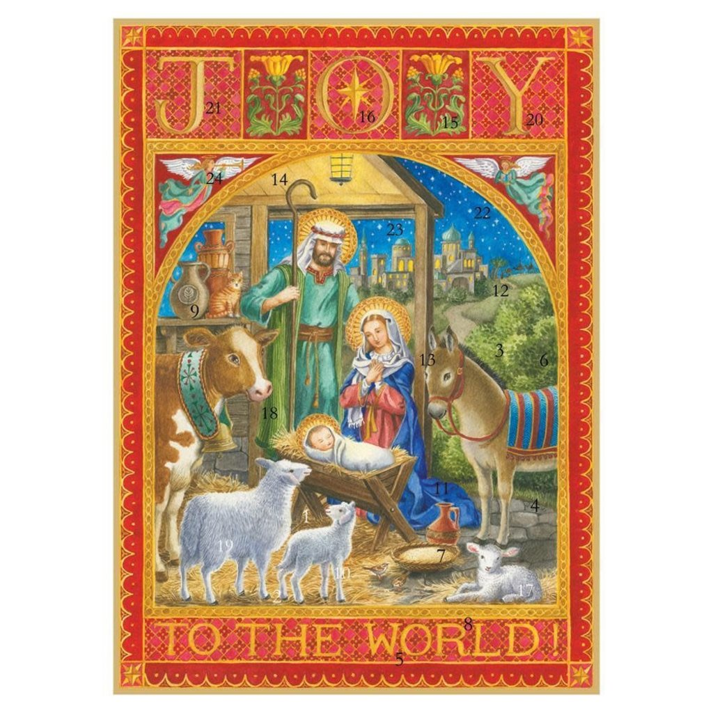 Caspari Caspari Advent Calendar - Joy To The World