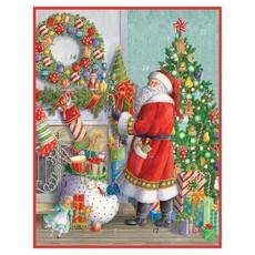 Caspari Caspari Advent Calendar - Santa At The Mantle