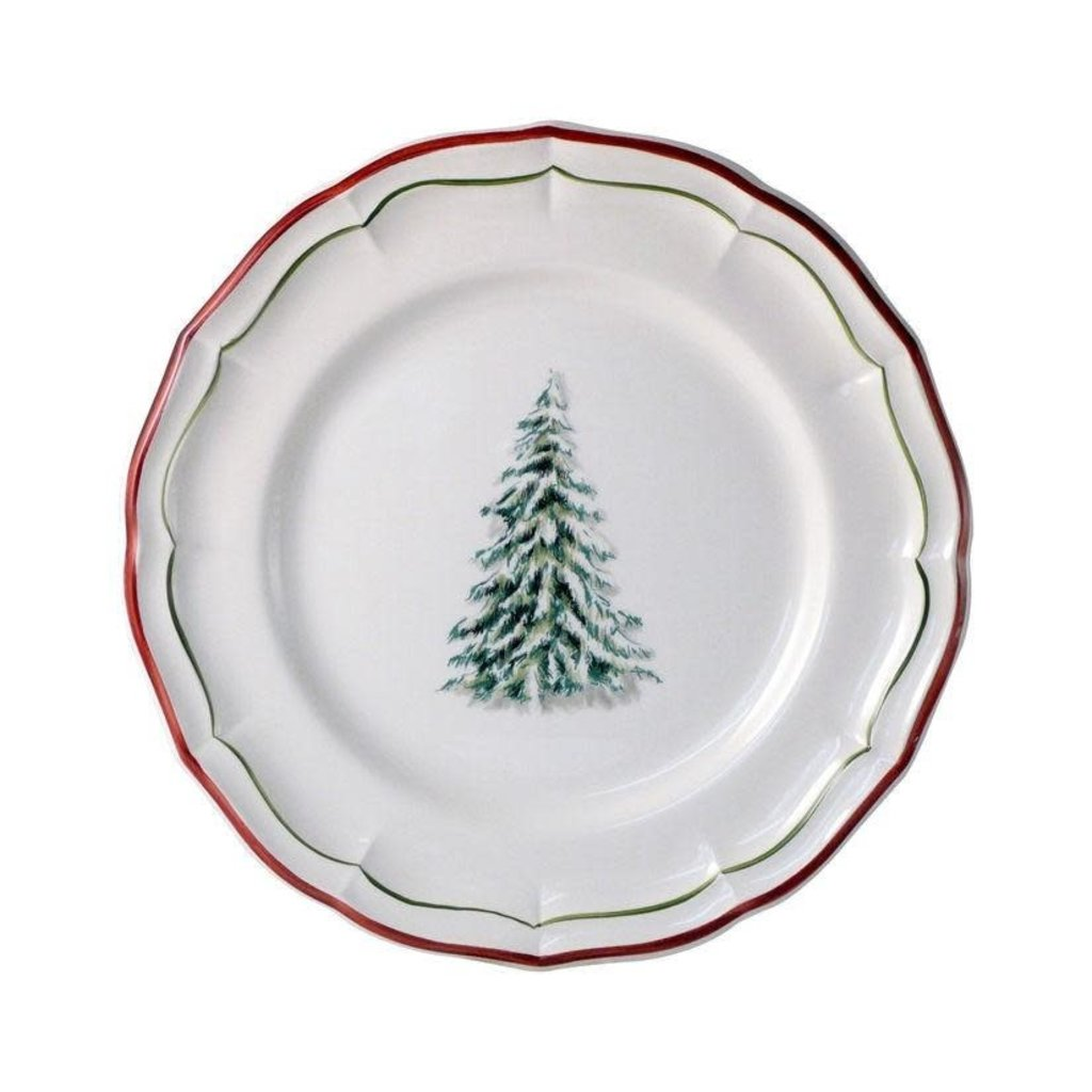 Gien France Gien Filet Noel Dessert / Salad Plate