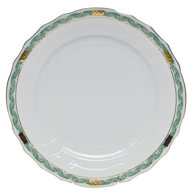Herend Herend Chinese Bouquet Garland Dinner Plate- Green