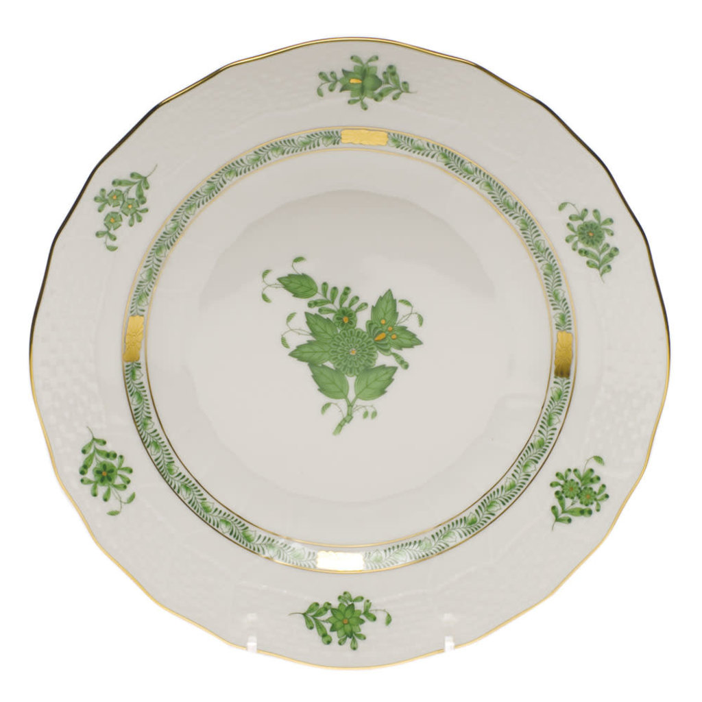 Herend Herend Chinese Bouquet Dessert Plate- Green