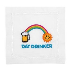 August Morgan August Morgan S/4 Cocktail Napkins - Day drinker