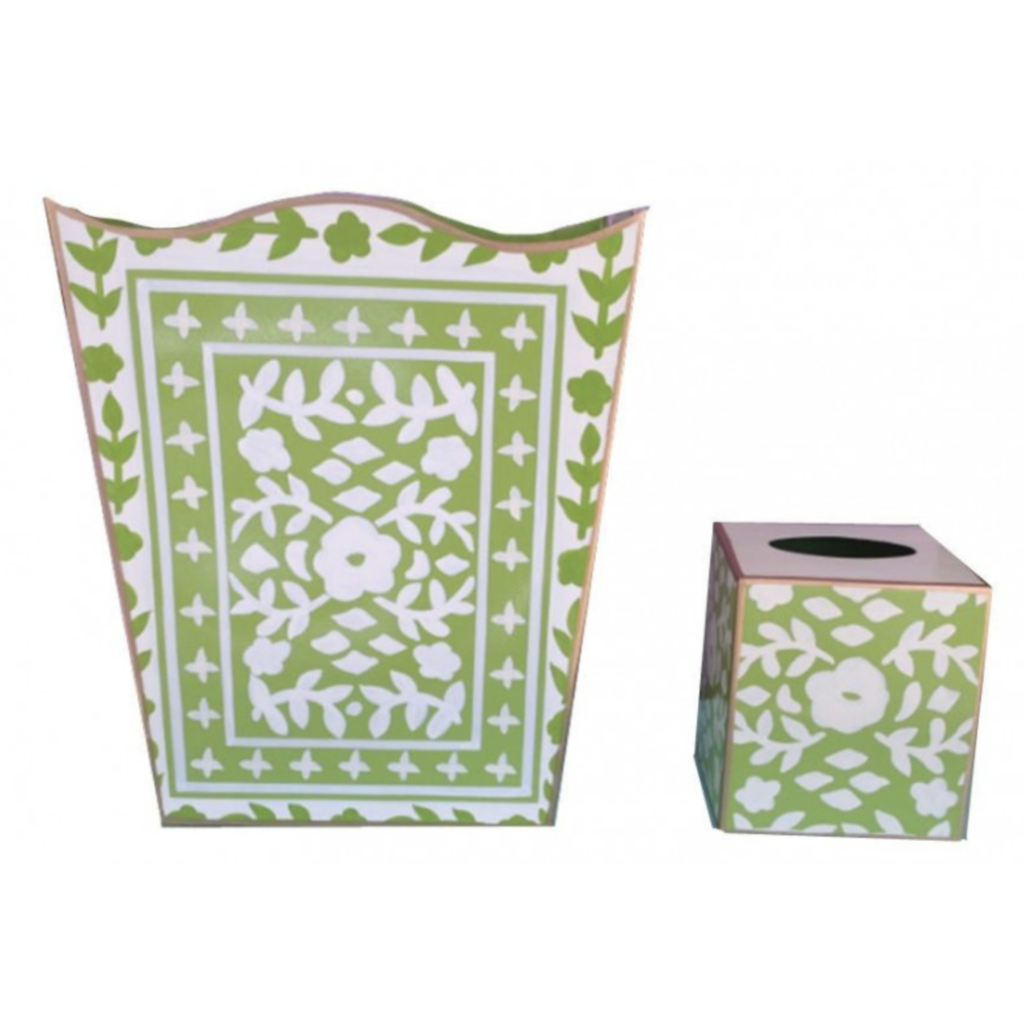 Dana Gibson Dana Gibson Mosiac Green Tissue Box