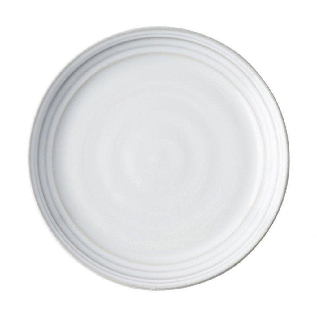 "Juliska Juliska Cocktail Plate Bilbao White Truffle 7.5""W"
