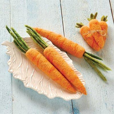 Tag Garden Veggies Tall Carrot Bunch S/3