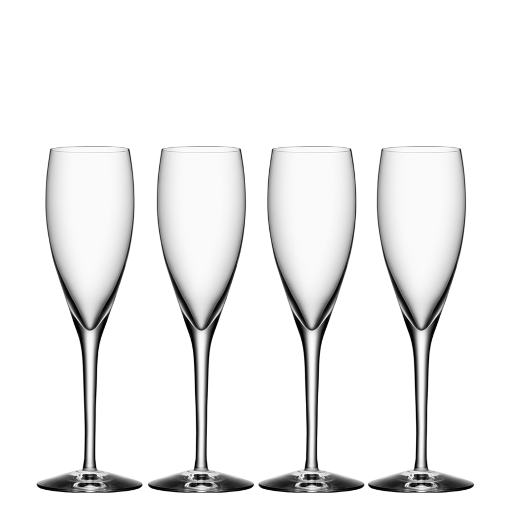 Orrefors More Champagne (set of 4)