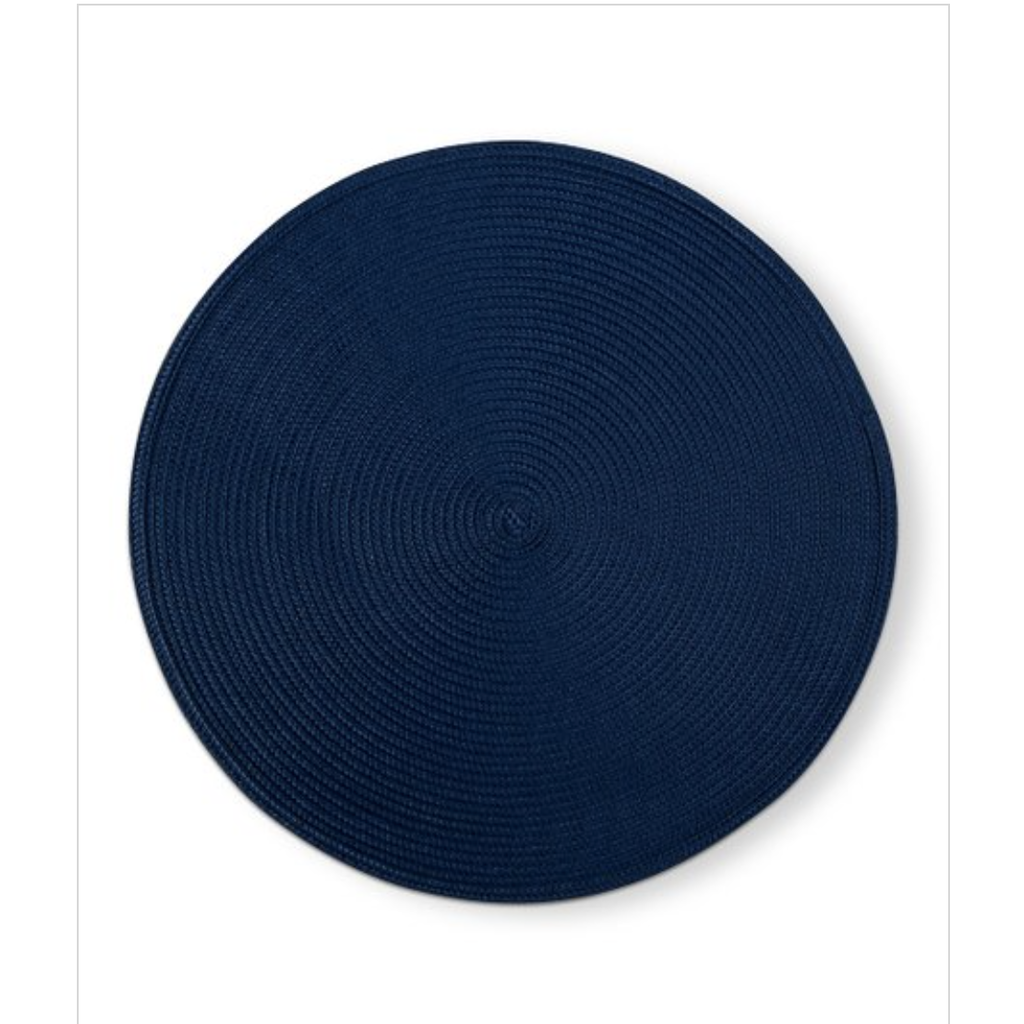 Tag Round Woven Placemat Blue S/4