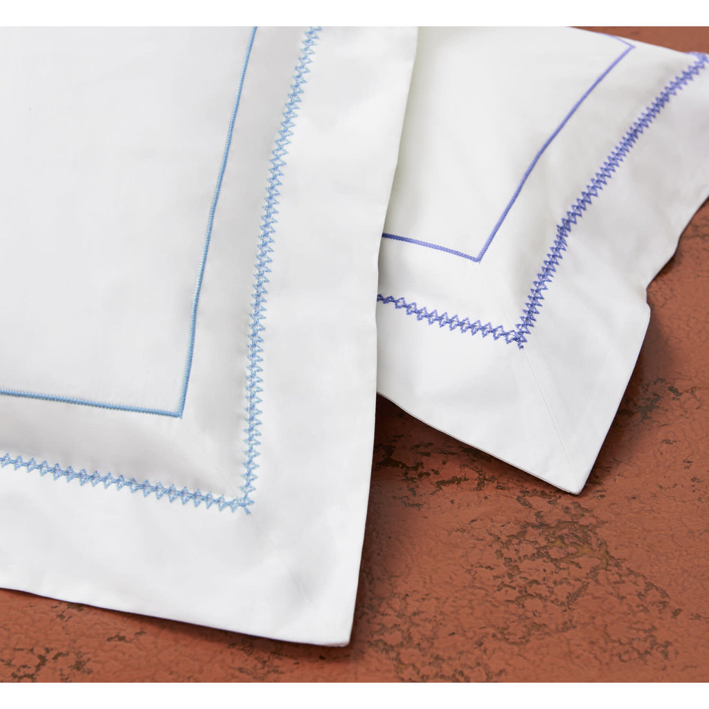 Stamattina Stamattina Giulia Light Blue King Flat Sheet