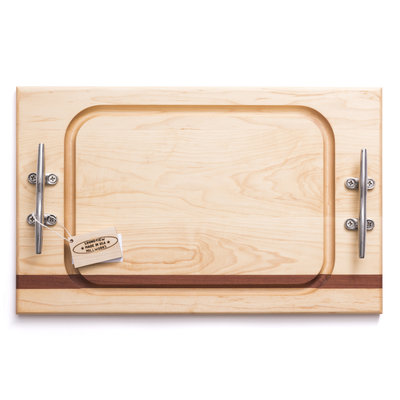 Soundview Millworks Soundview Millworks Steak Board Nautical Cleat Single Stripe Special Engraving (M)